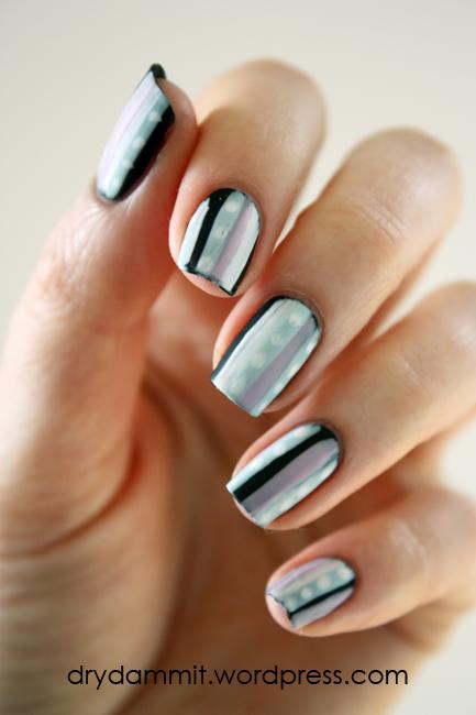 ulta3 blackboard matte polish and nail art stripers by Dry, Dammit!