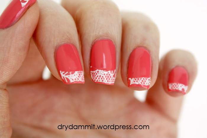 essence Bloom Me Up! nail lace tips by Dry, Dammit!