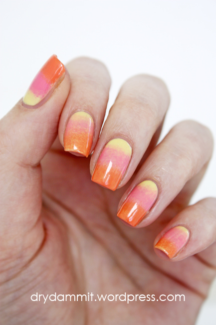 Gradient nail art by Dry, Dammit!