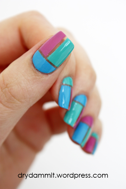 Geometric negative space nail art by Dry, Dammit!