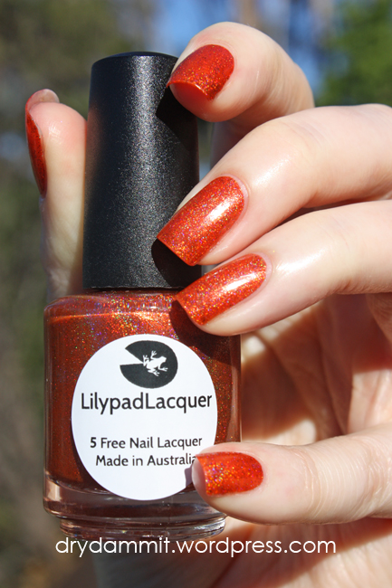 October Holo-ween What's In-die Box? Lilypad Lacquer Skulloween by Dry, Dammit!