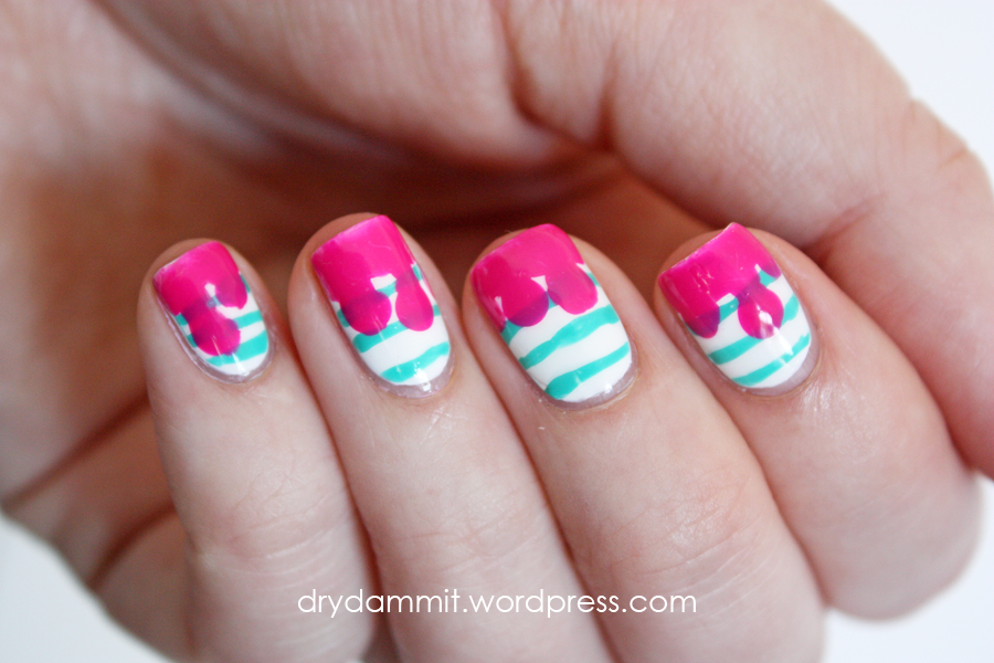 Drips and stripes nail art   Dry, Dammit!