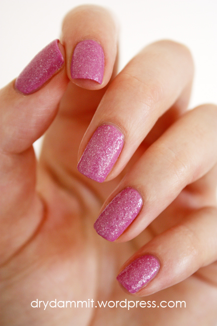 essence Purple Sugar covered by essence Sparkle Sand I Feel Gritty! by Dry, Dammit! 3 ways to create textured nail polish in a colour you don't have