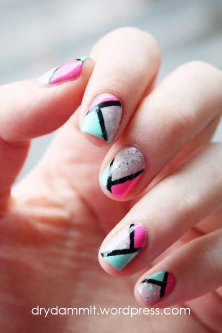 Emily de Molly Frail Promise geometric nail art by Dry, Dammit!