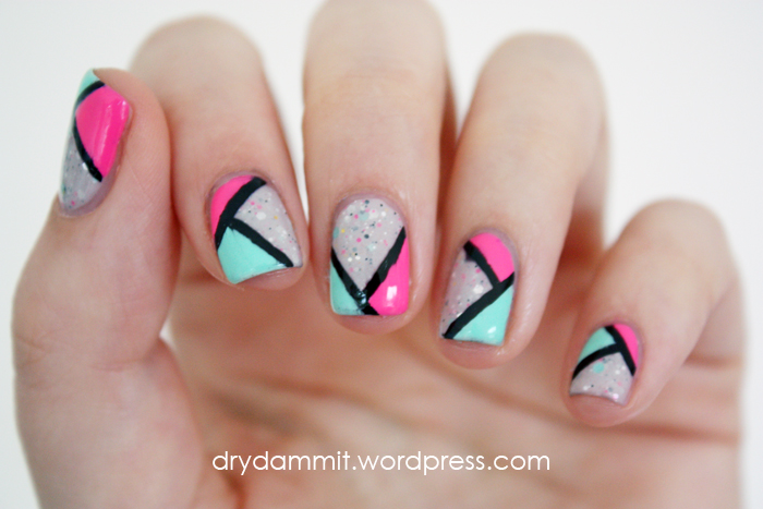 Emily de Molly Frail Promise geometric nail art by Dry, Dammit!