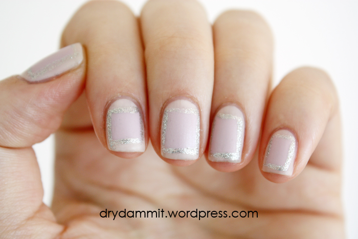 Delicate square nail art by Dry, Dammit!