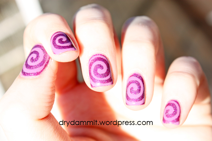 Swirl nail art by Dry, Dammit!