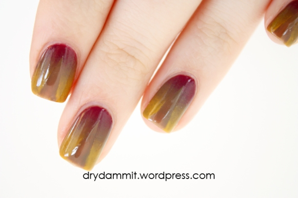 Celestial Cosmetics Iron Throne Collection creme gradient nail art by Dry, Dammit!