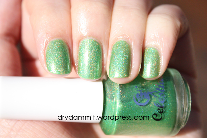 Celestial Cosmetics The Chocolate Factory Collection You Can Eat The Grass? swatched by Dry, Dammit!