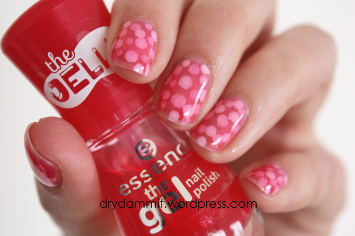 Pond manicure nail art featuring essence Bubble Gum | Dry, Dammit!