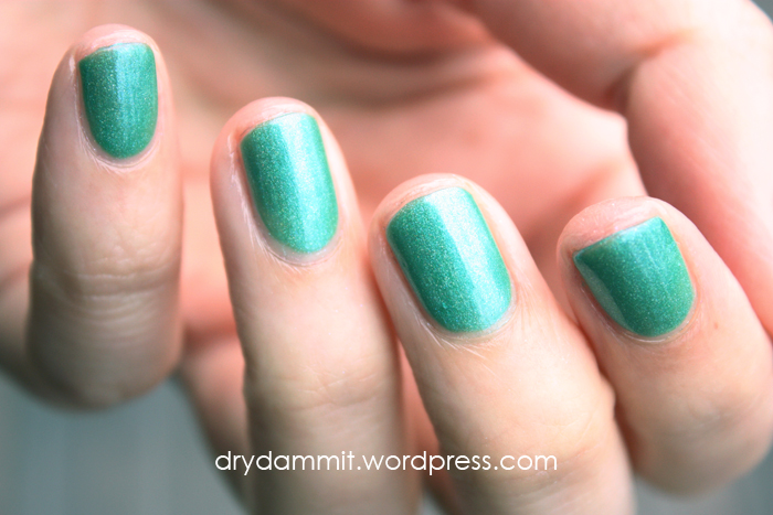 Celestial Cosmetics Christmas in the Outback Collection Evergreen Eucalypts swatched by Dry, Dammit!