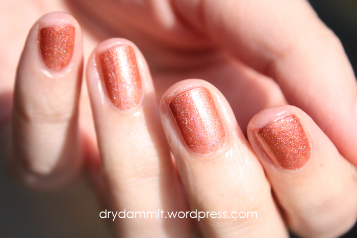 Celestial Cosmetics Christmas in the Outback Collection No Snow For Santa swatched by Dry, Dammit!