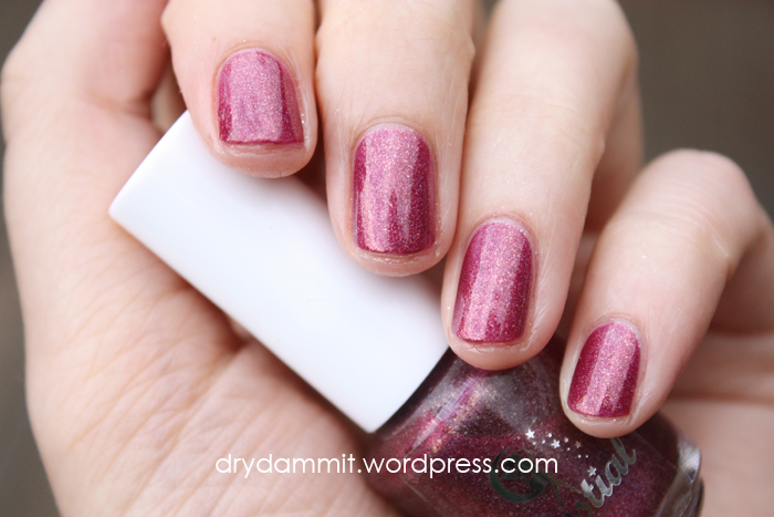 Celestial Cosmetics Christmas in the Outback Collection Sunset on Yule swatched by Dry, Dammit!