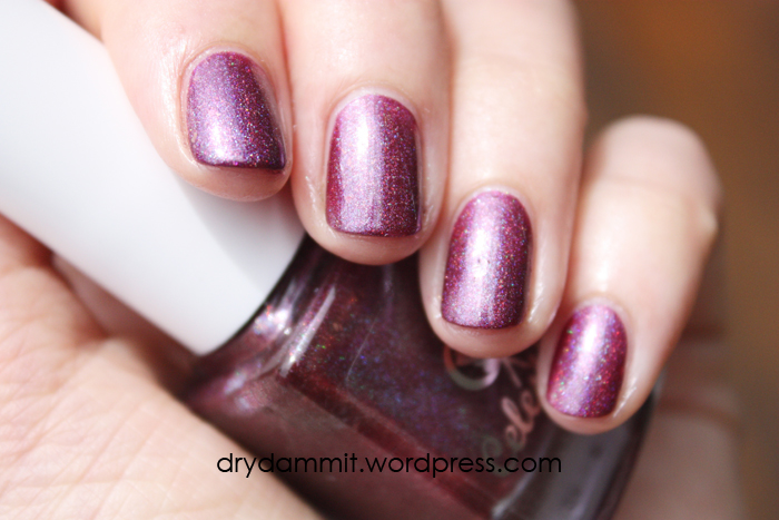 Celestial Cosmetics Tropical Holiday Collection Goblin Orchid swatched by Dry, Dammit!