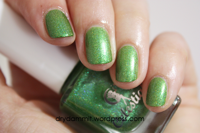 Celestial Cosmetics Tropical Holiday Collection Key Lime Pie swatched by Dry, Dammit!