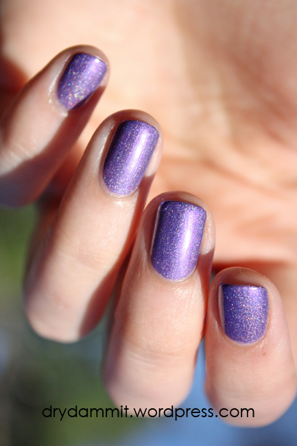 Celestial Cosmetics Tropical Holiday Collection Purple Rain Cocktail swatched by Dry, Dammit!