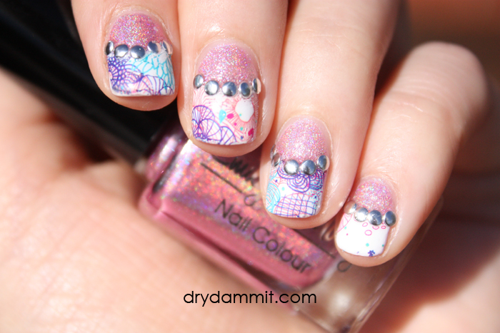 Born Pretty Store Water Decals Half Moon Nail Art Dry Dammit