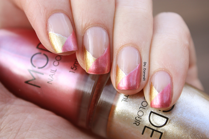 Funky French nail art with MODE Bling It On & Fresh Melon | Dry, Dammit!
