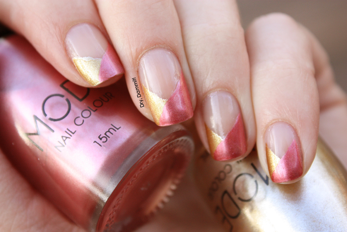 Funky French Nail Art With Mode Bling It On Fresh Melon Dry Dammit