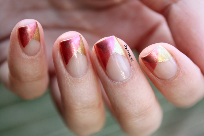 Funky French nail art by Dry, Dammit!