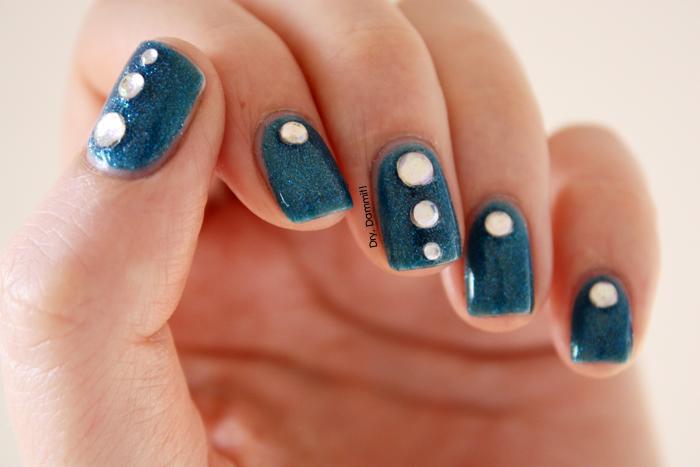 Born Pretty rhinestone nail art by Dry, Dammit!