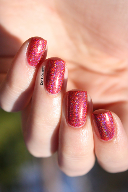Celestial Cosmetics Dracarys swatched by Dry, Dammit!