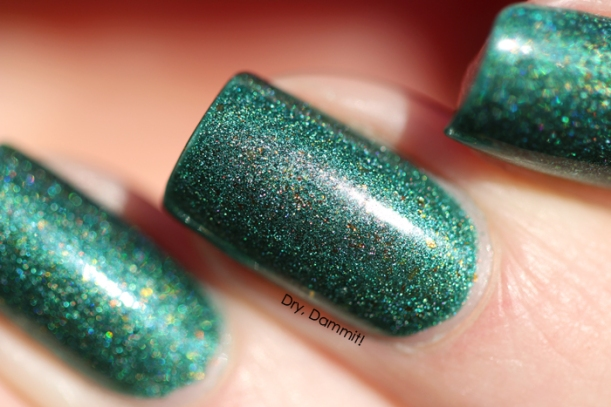Celestial Cosmetics We Breathe Fire Collection Firnen swatched by Dry, Dammit!
