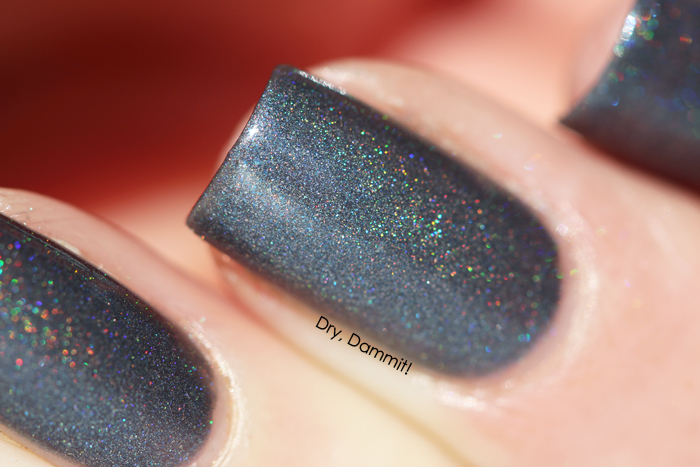 Celestial Cosmetics We Breathe Fire Collection Saphira swatched by Dry, Dammit!
