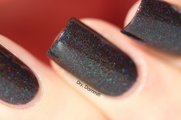 Celestial Cosmetics We Breathe Fire Collection Shruikan swatched by Dry, Dammit!