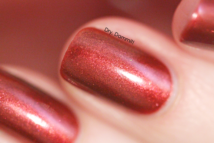 Celestial Cosmetics Love Never Dies Collection The Blood is the Life swatched by Dry, Dammit!