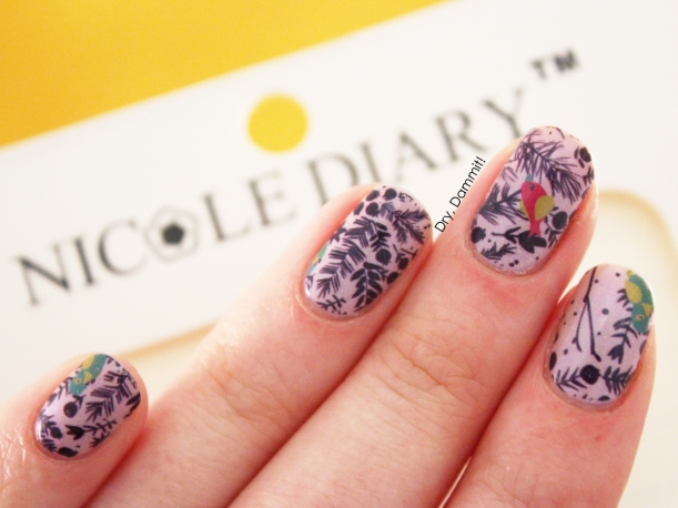 Nicole Diary water decals swatched by Dry, Dammit!