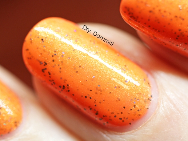 Celestial Cosmetics Halloween Story Trio Collection Sinister Squashling swatched by Dry, Dammit!