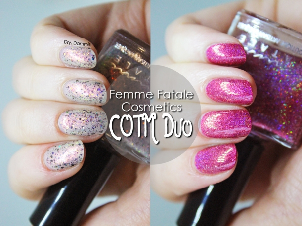 Femme Fatale October COTM Duo 2016 swatched by Dry, Dammit!