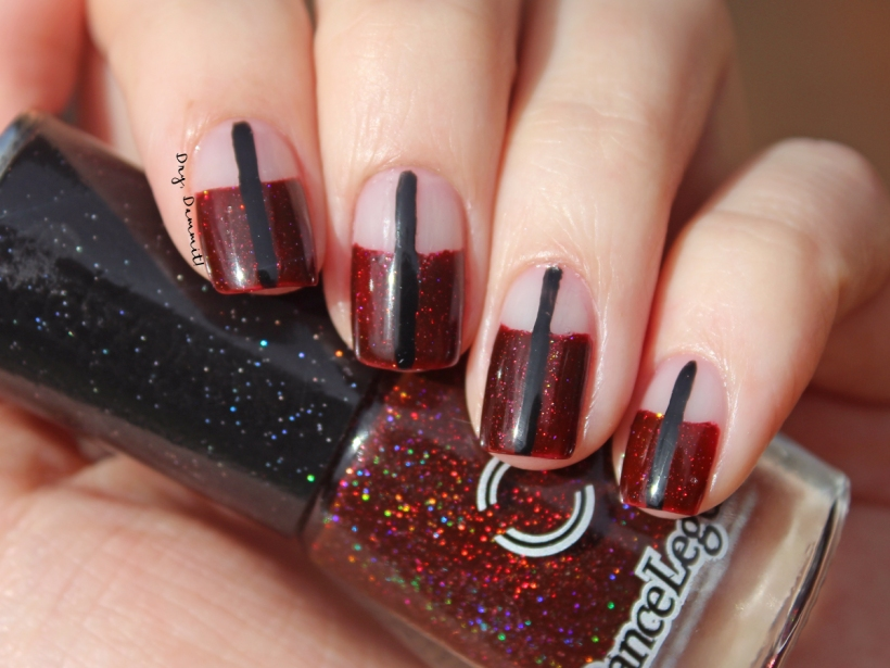 Dance Legend Royal Blood negative space nail art inspired by Mari Lumme by Dry, Dammit!