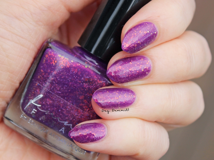 Femme Fatale December 2016 COTM Festive Blithe swatched by Dry, Dammit!