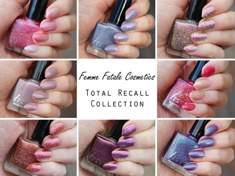 Femme Fatale Total Recall Collection swatched by Dry, Dammit!