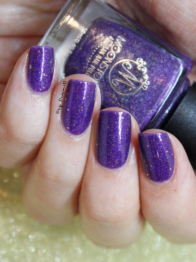Moonstone Nail Polish Purple People Eater custom nail polish swatched by Dry, Dammit!