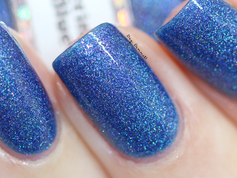 Glittering Elements Blue Blood swatched by Dry, Dammit!