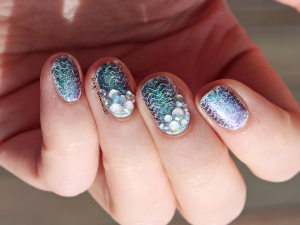 Born Pretty Store Destiny Fairy mermaid nail art by Dry, Dammit!