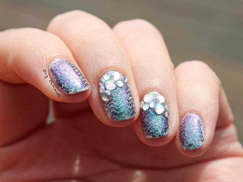 Born Pretty Store Destiny Fairy mermaid nail art by Dry, Dammit!