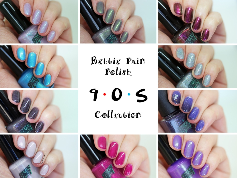 Bettie Pain Polish 90s Collection swatched by Dry, Dammit!