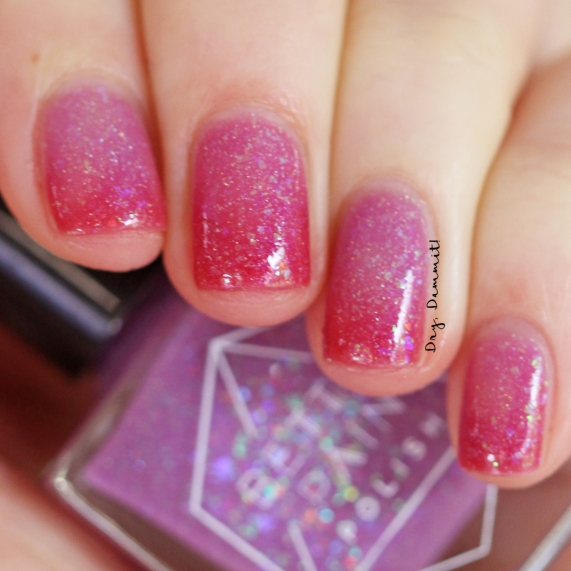 Bettie Pain Polish Eden transition swatched by Dry, Dammit!