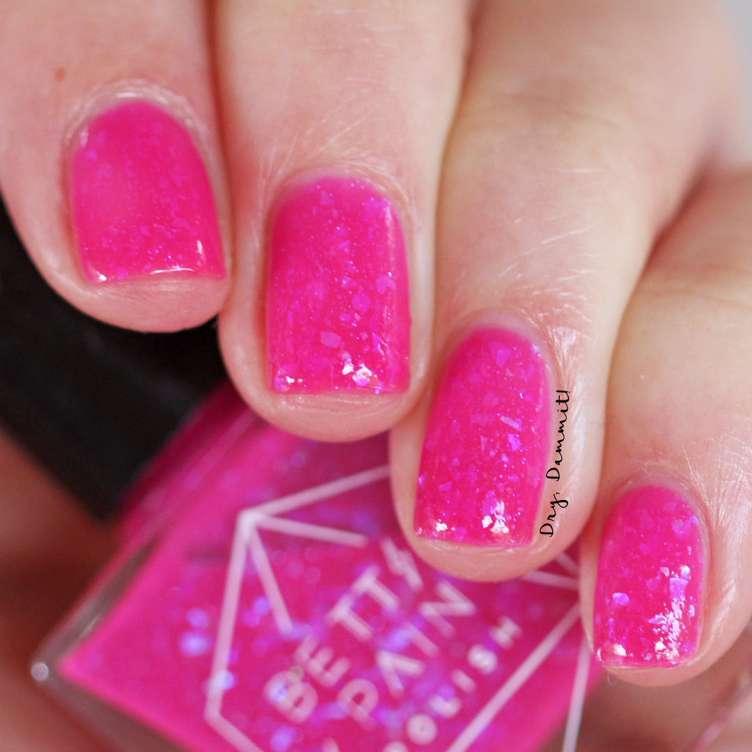 Bettie Pain Polish Neon Graveyard swatched by Dry, Dammit!