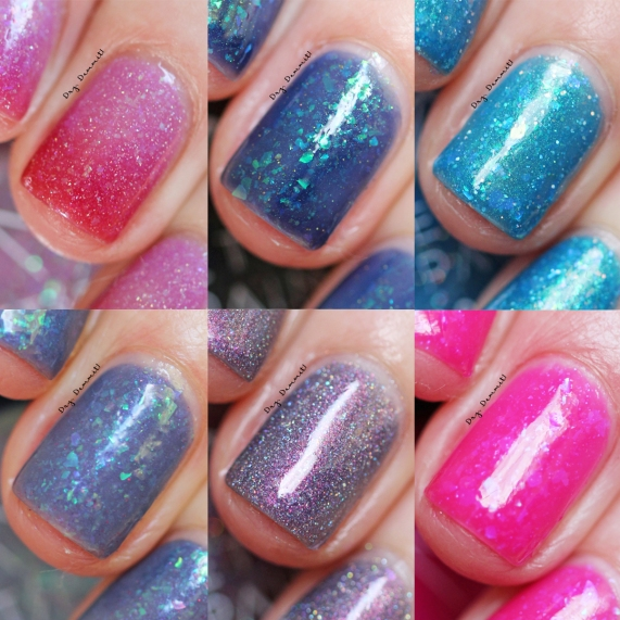 Bettie Pain Polish Spring 2018 Collection swatched by Dry, Dammit!