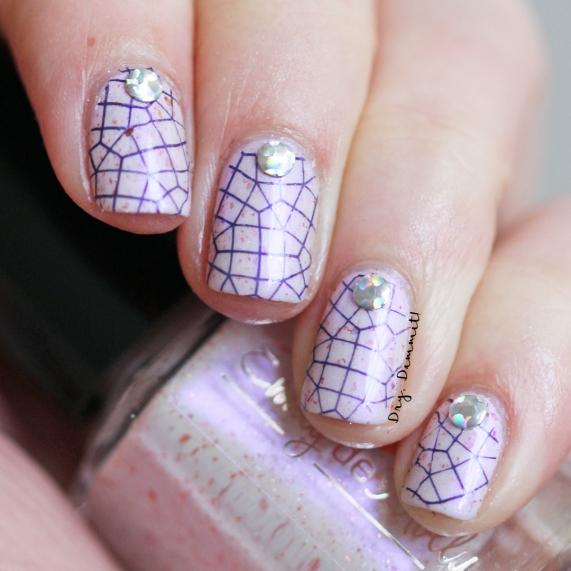 Emily de Molly Change of Pace geometric nail art by Dry, Dammit!