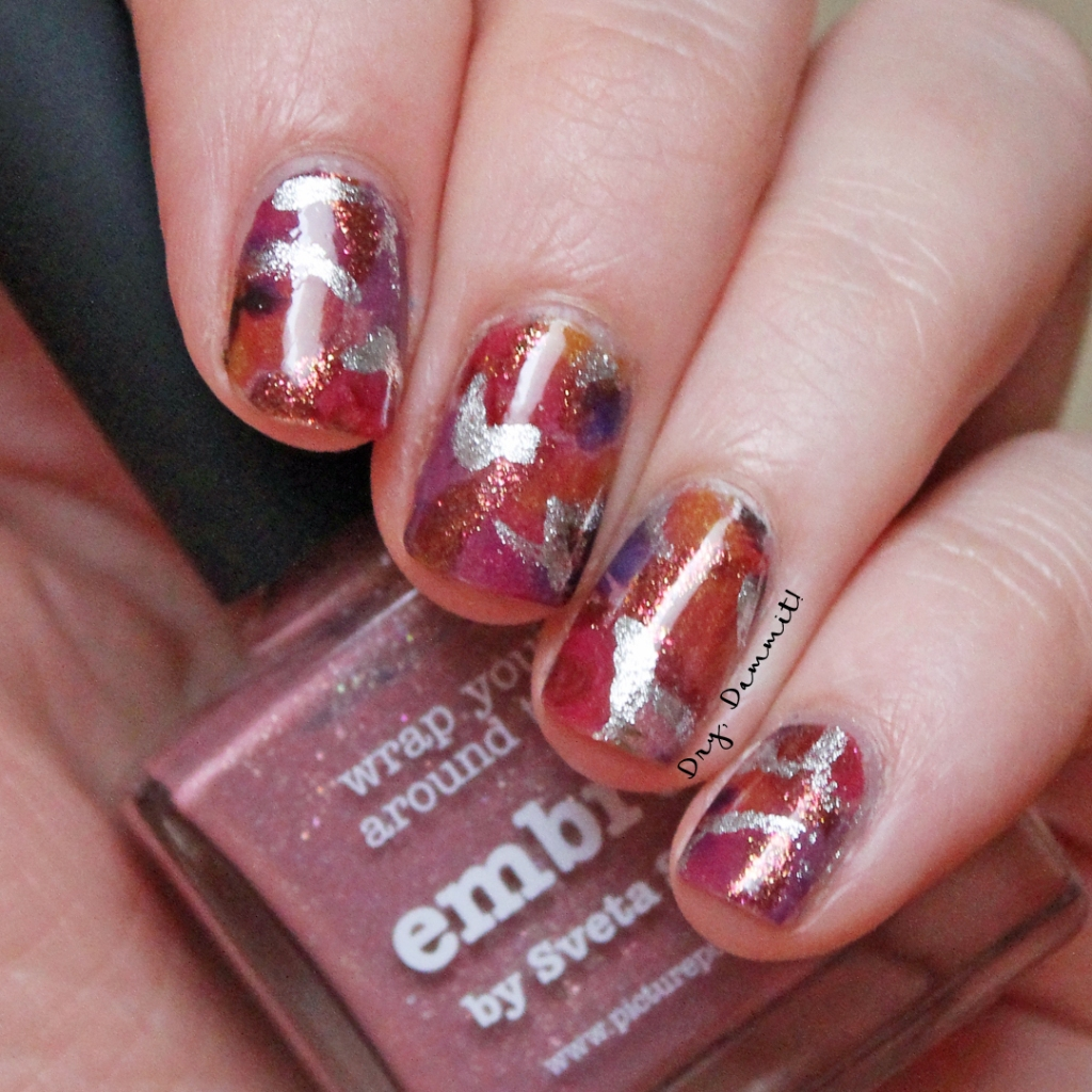 Picture Polish Embrace nail art by Dry, Dammit!